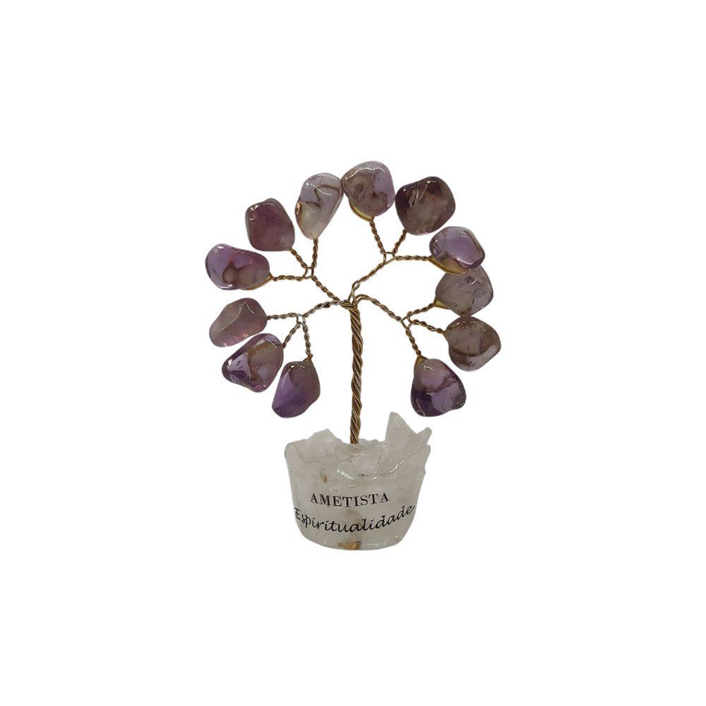 Árvore de Pedra Ametista Base Cristais 7cm - Espiritualidade