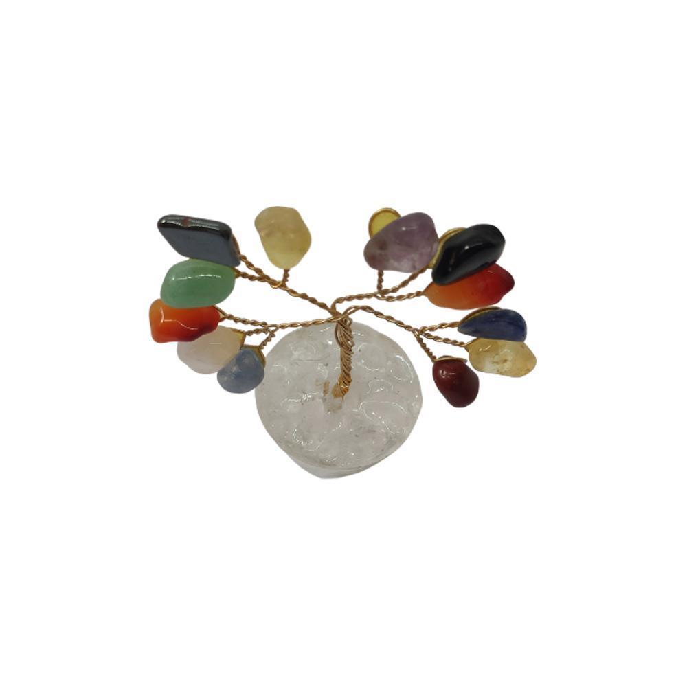 Árvore de Pedras Mistas Base Cristais 7cm - Criatividade