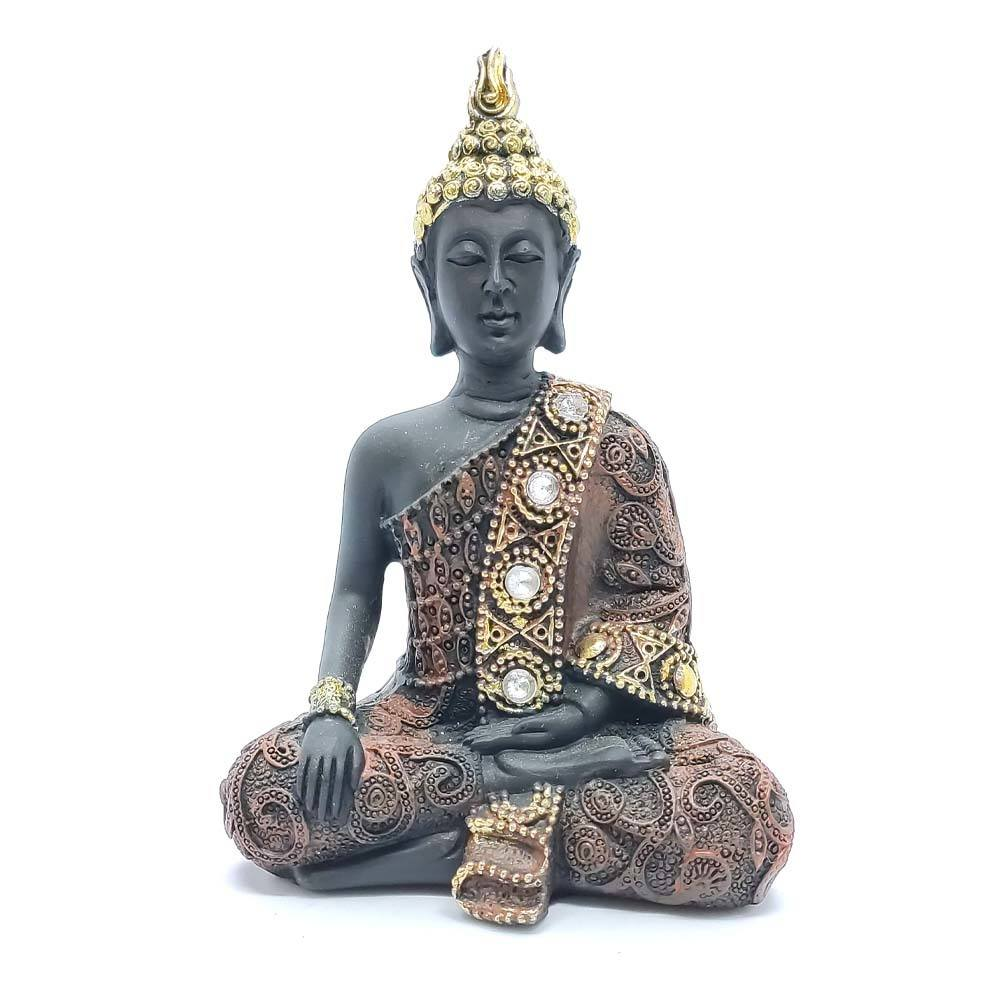 Buda com Pedras G Preto - Mãos Abaixadas