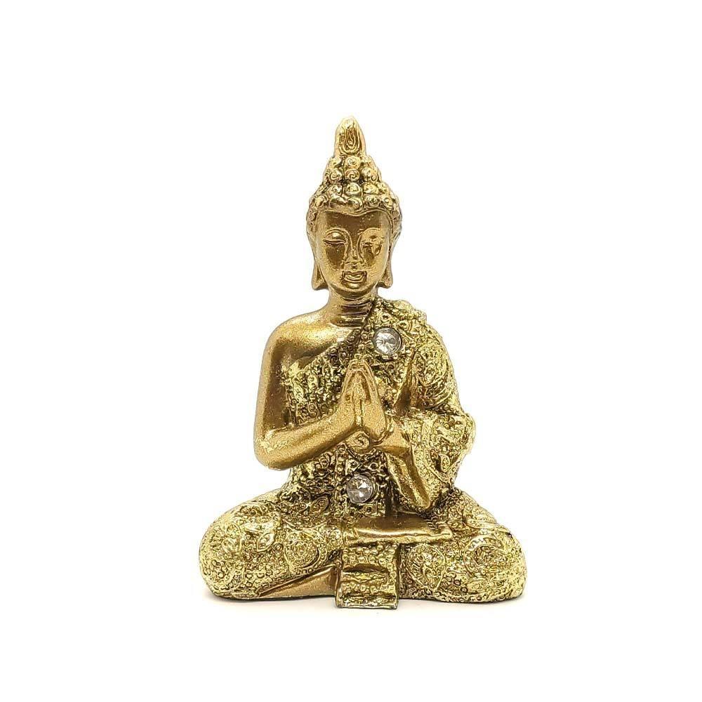 Buda com Pedras P Dourado - Mãos Unidas