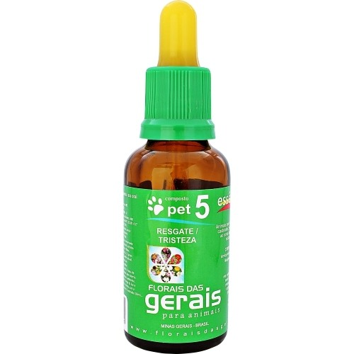 COMPOSTO FLORAL PET 5 RESGATE / TRISTEZA 30ML