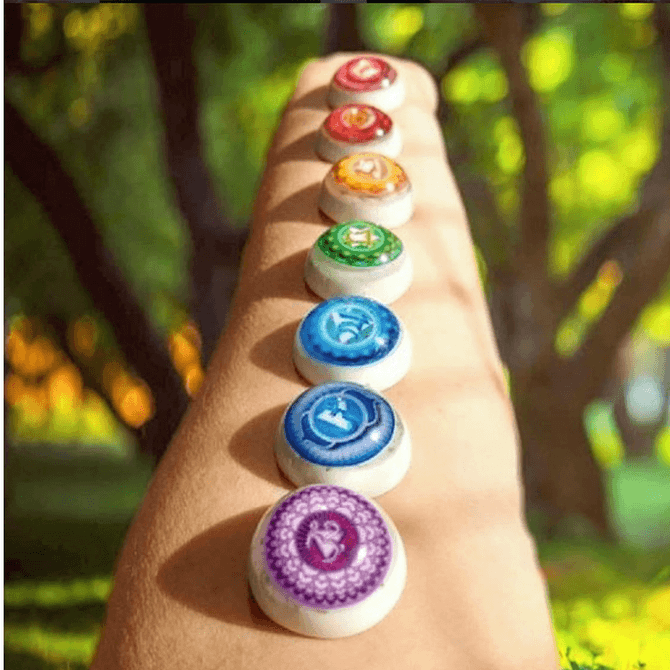 Conjunto de Chakras de Orgonite Médio - Equilibrio feito à distancia