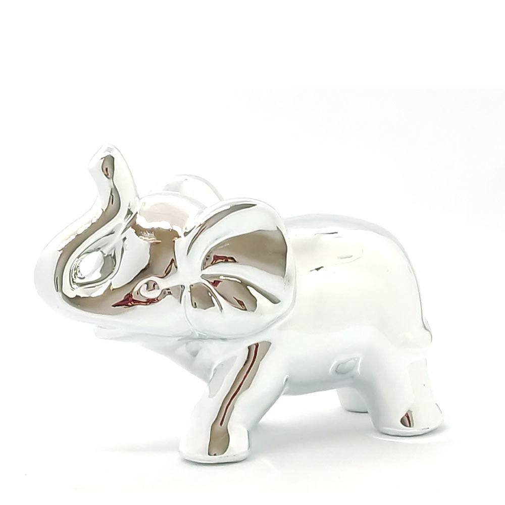 Elefante de Cerâmica G Prata