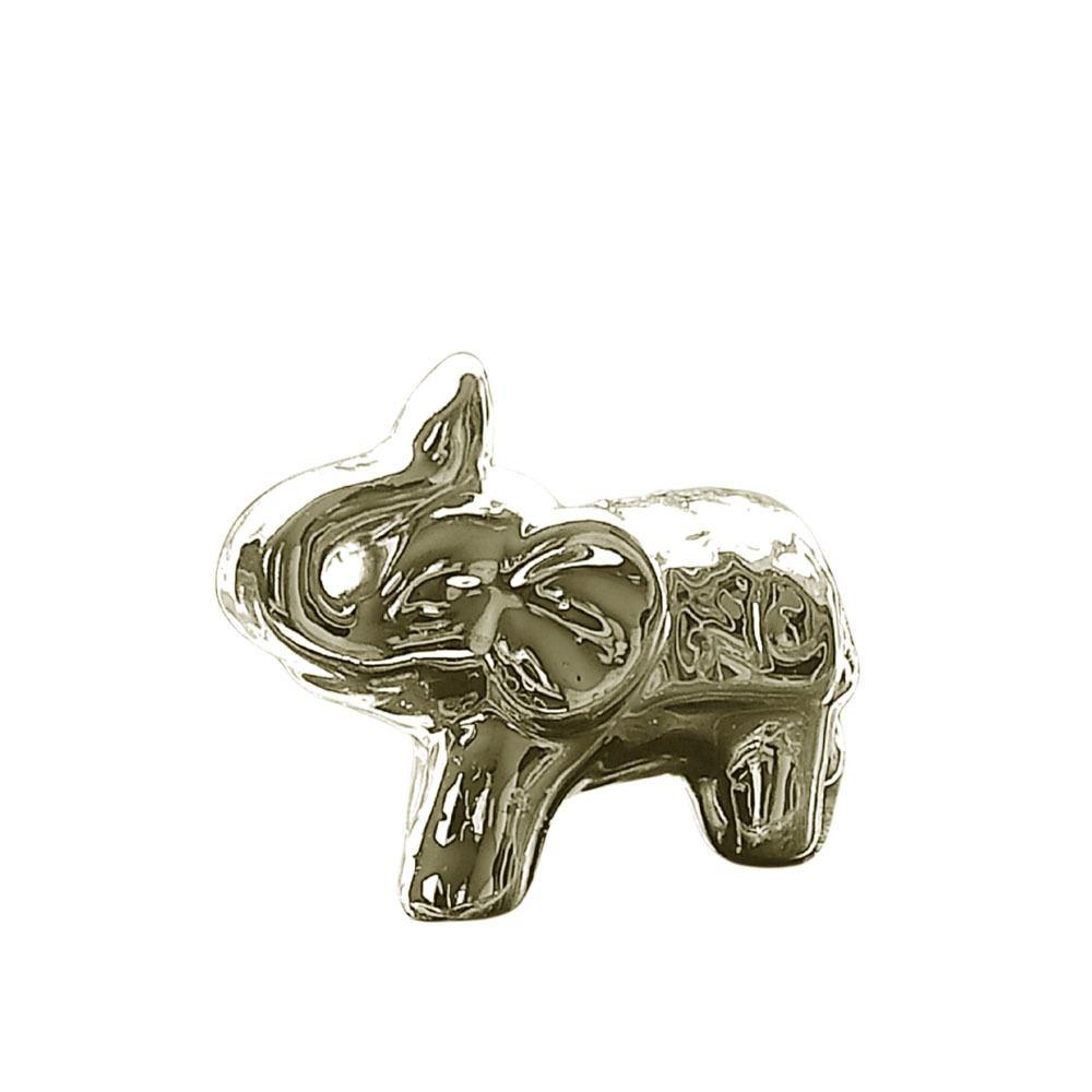 Elefante Em Cerâmica Médio Dourado - 9cm