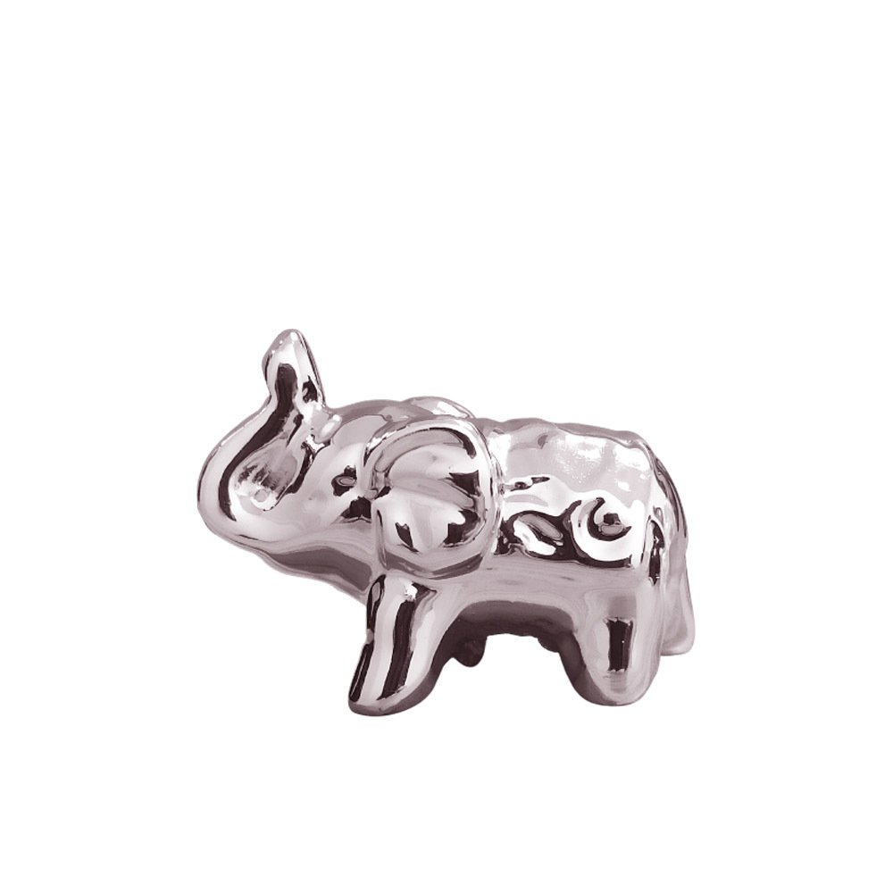 Elefante Em Cerâmica Pequeno Rosa - 5cm