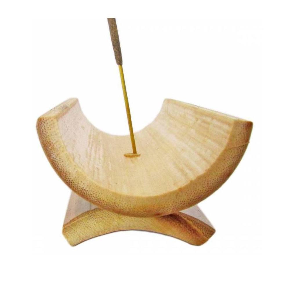Incensário de Bambu com base 10cm - 100% Natural