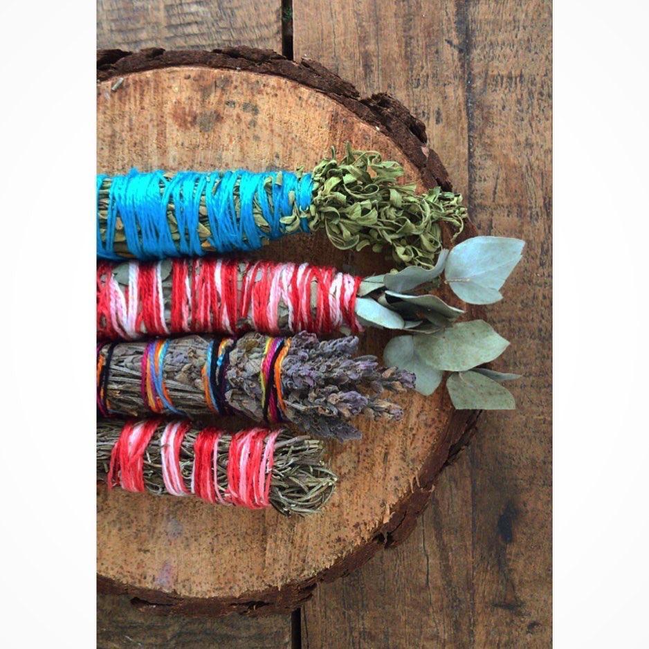 Inenso - Kit: Arruda, eucalipto grande, lavanda e alecrim