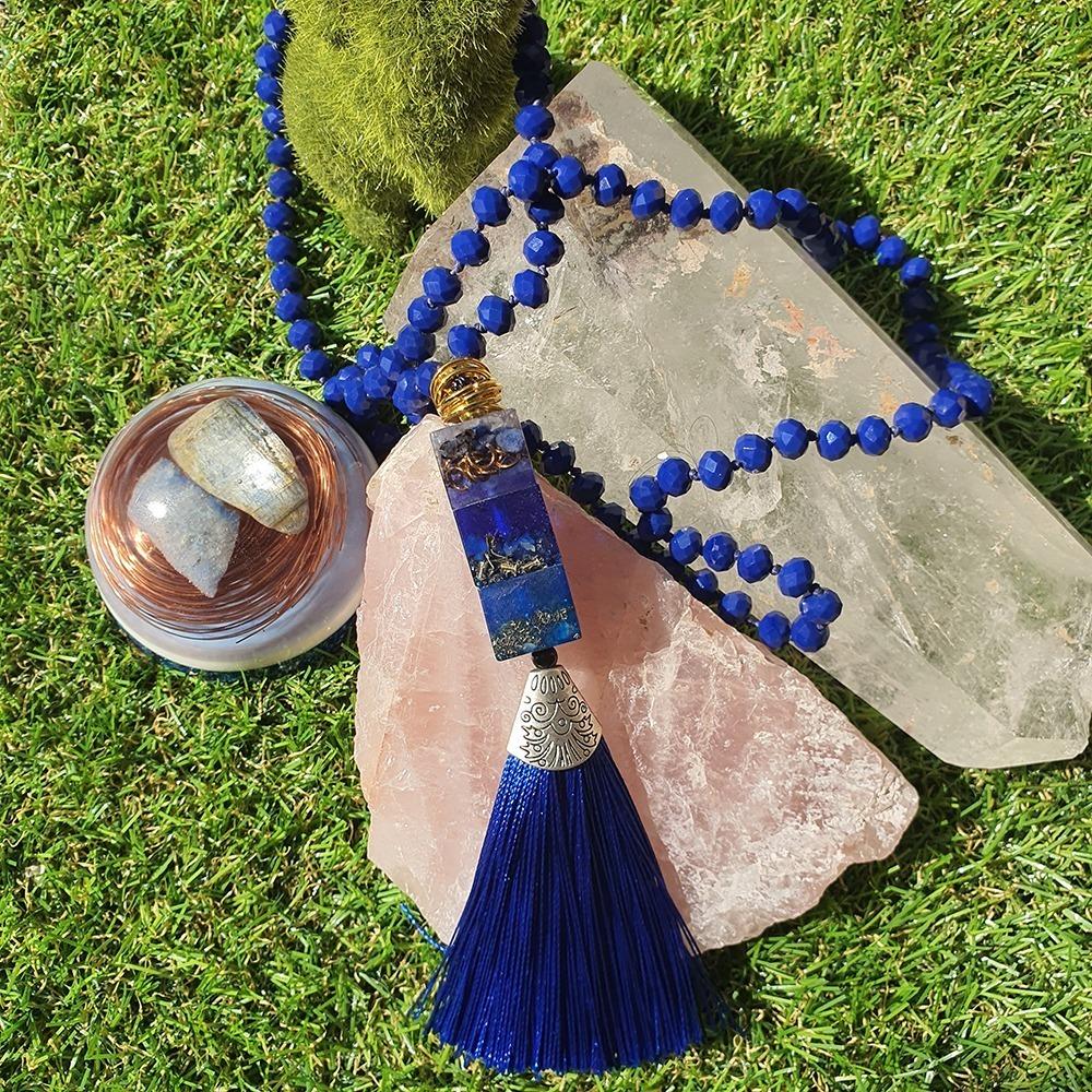 Japamala de Cristal com Orgonite - Anil