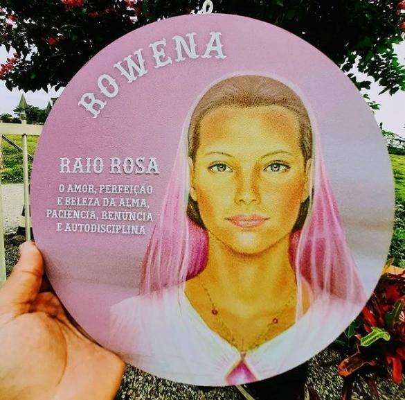 MANDALA 3º RAIO ROSA MESTRE ROWENA