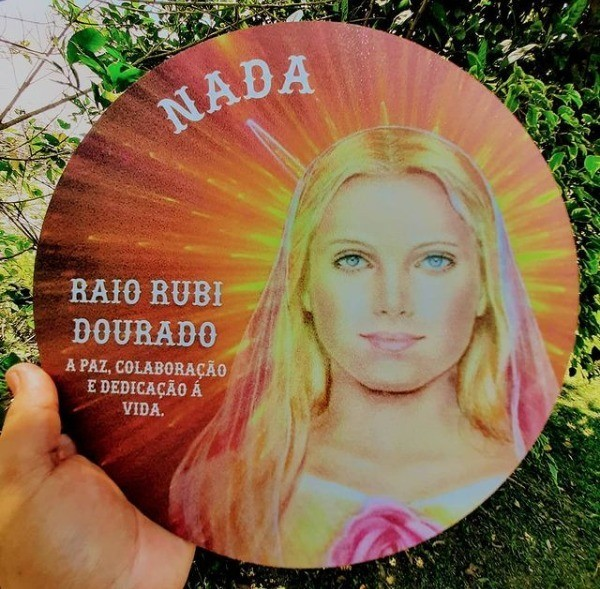 MANDALA 6º RAIO RUBI DOURADO MESTRE NADA
