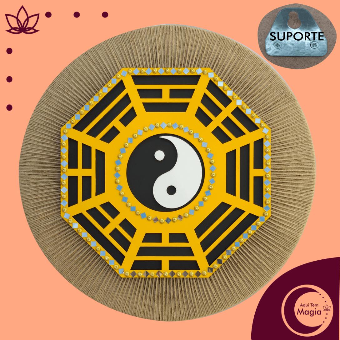 Mandala Baguá / Yin Yang 60cm de Diâmetro