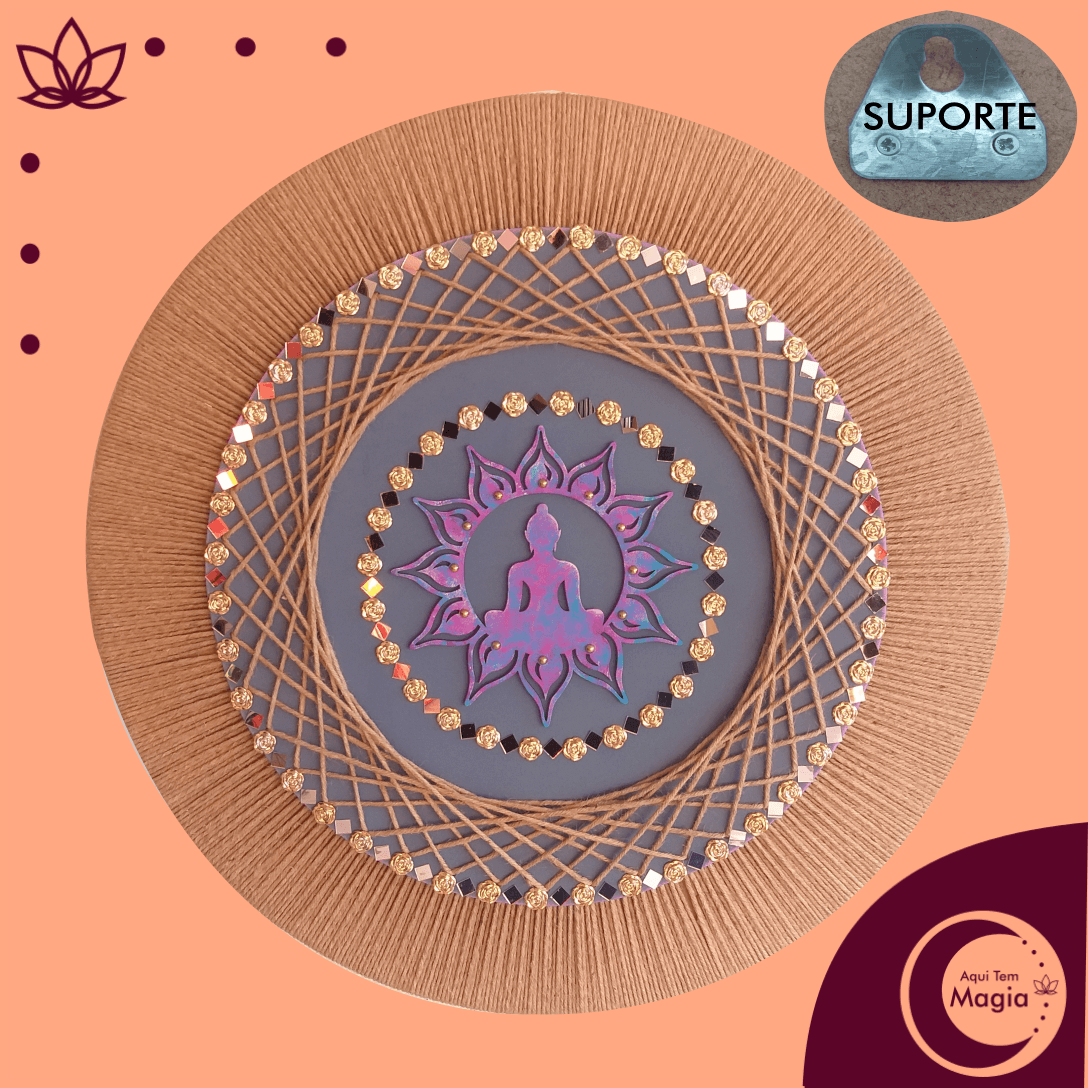 Mandala Buda / Flor de Lótus 60cm de Diâmetro