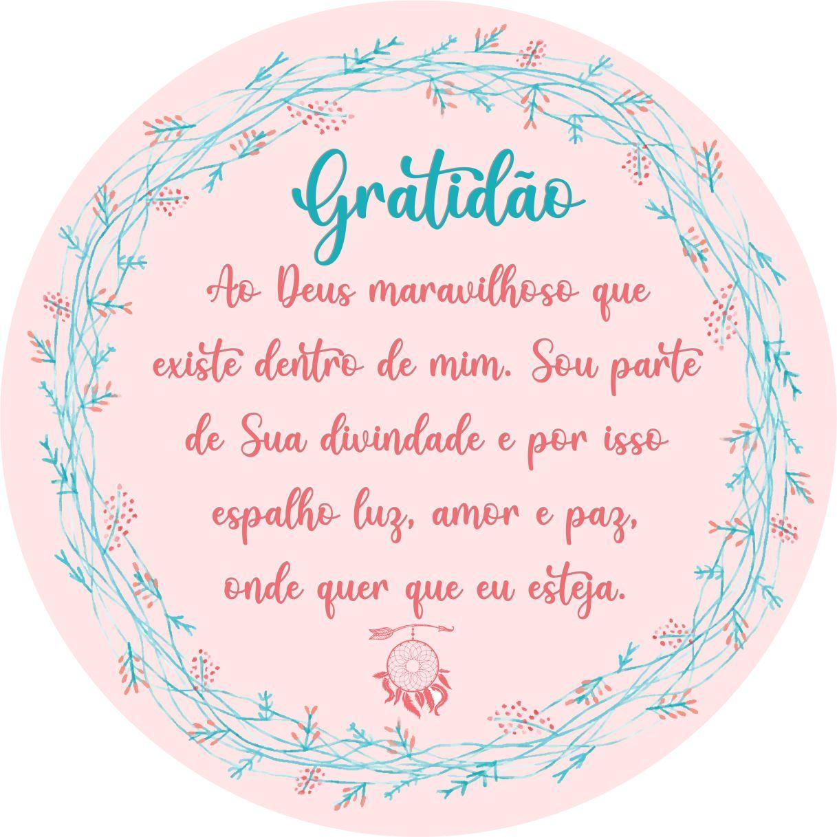 MANDALA ORAÇÃO DA GRATIDÃO
