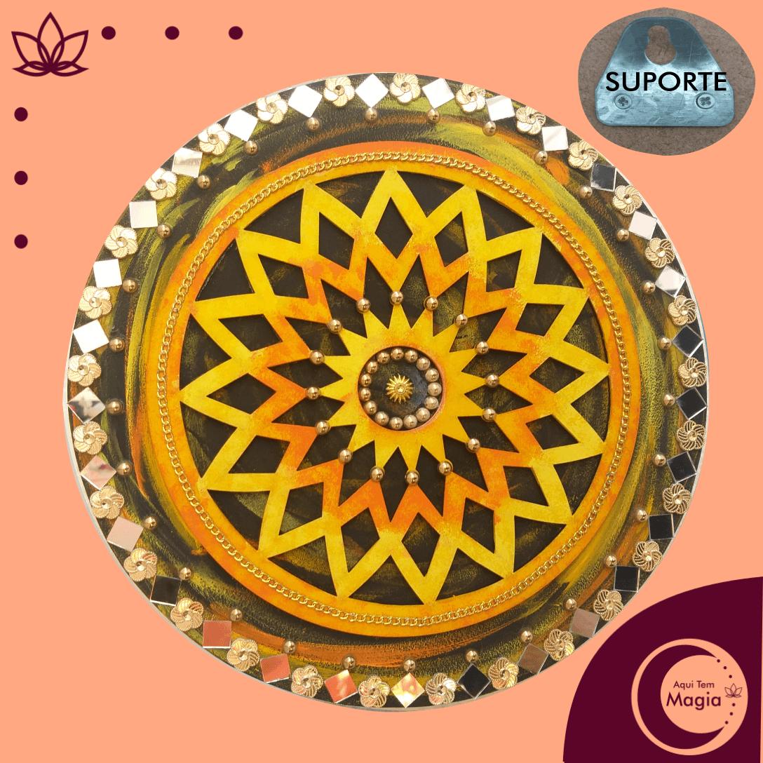 Mandala Flor da Prosperidade 26cm de Diâmetro
