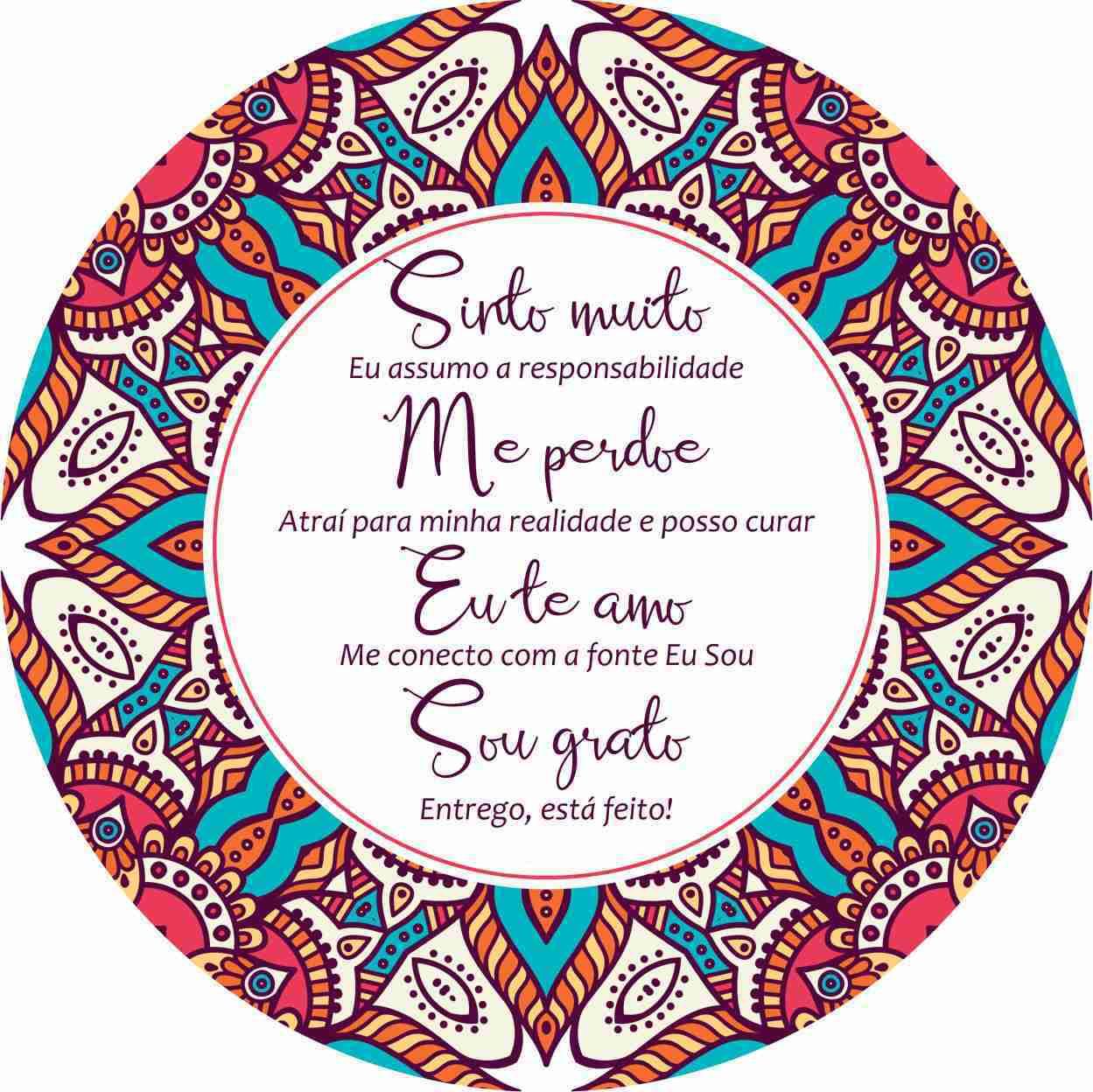 MANDALA HO'OPONOPONO: SINTO MUITO, ME PERDOE, EU TE AMO, SOU GRATO