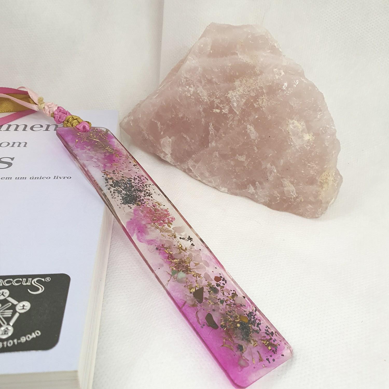 Marca-Página de Orgonite Rosa Grande