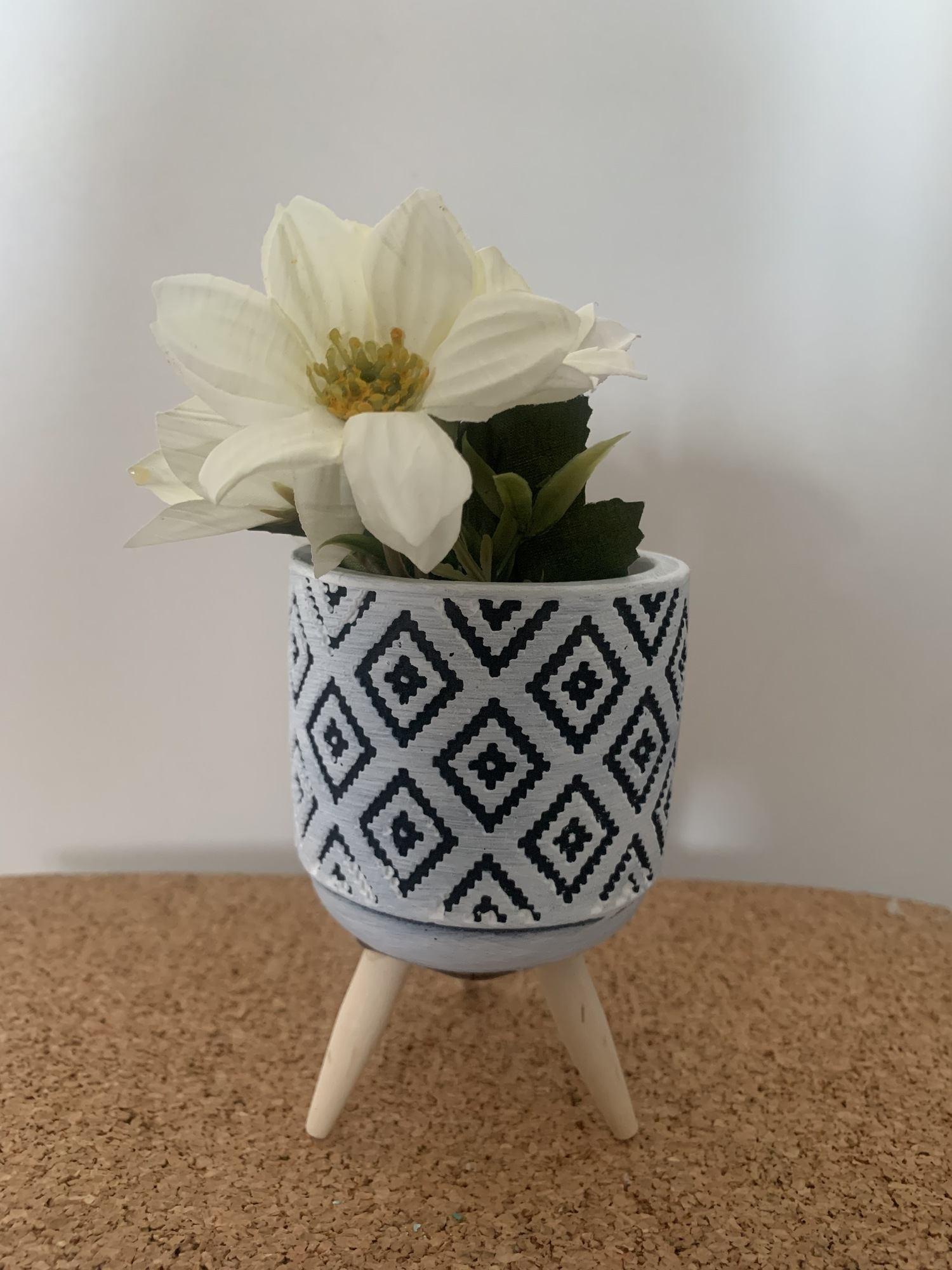 Mini vaso com pé