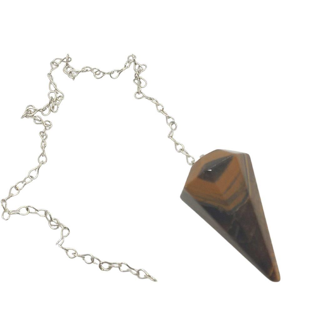 Pêndulo de Cristal Natural OLHO DE TIGRE
