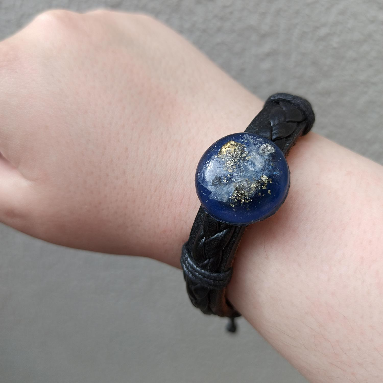 Pulseira de Orgonite - Quartzo Azul