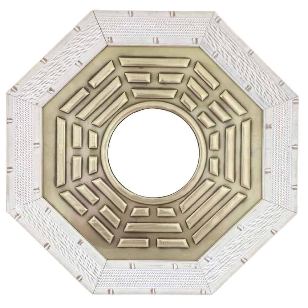Quadro Baguá Céu Posterior com Espelho Moldura Clara 37cm