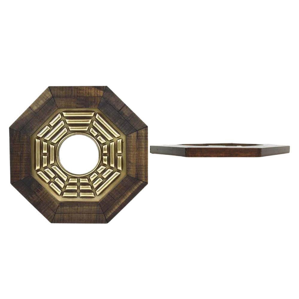 Quadro Feng Shui Baguá Céu Anterior com Espelho Convexo 13cm