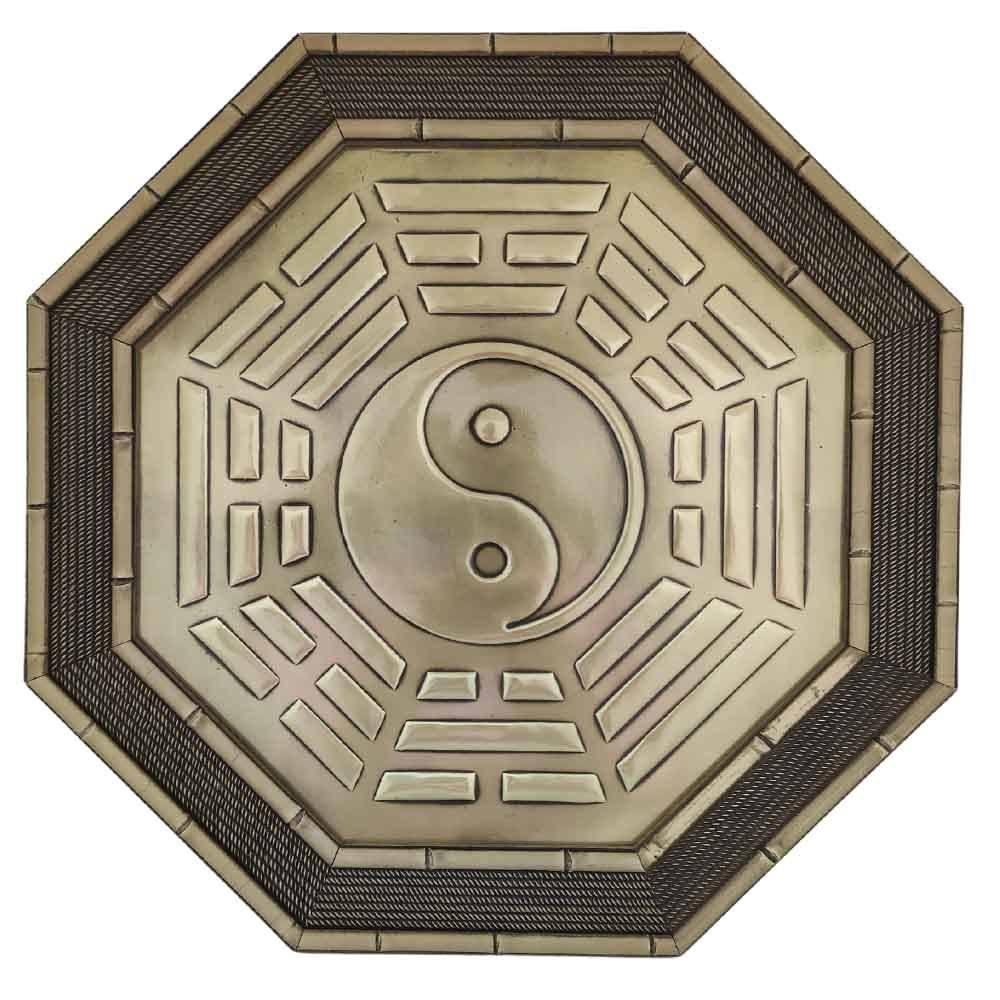 Quadro Feng Shui Baguá Céu Posterior Yin Yang 37cm