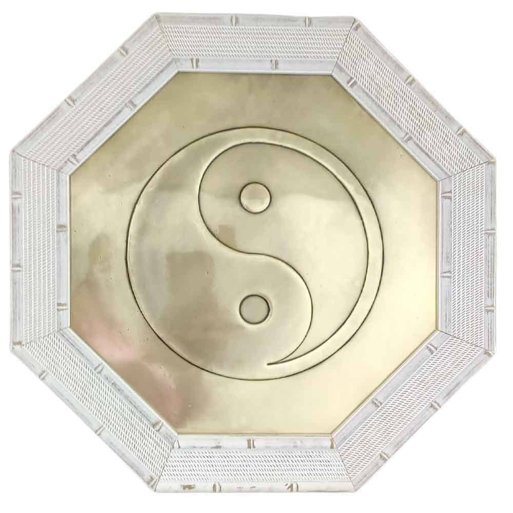 Quadro Feng Shui Yin Yang Moldura Clara 37cm