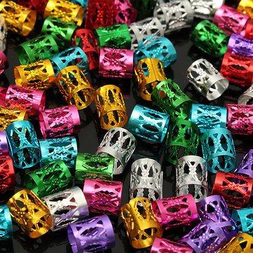 50 anéis de trança/ Dread coloridos