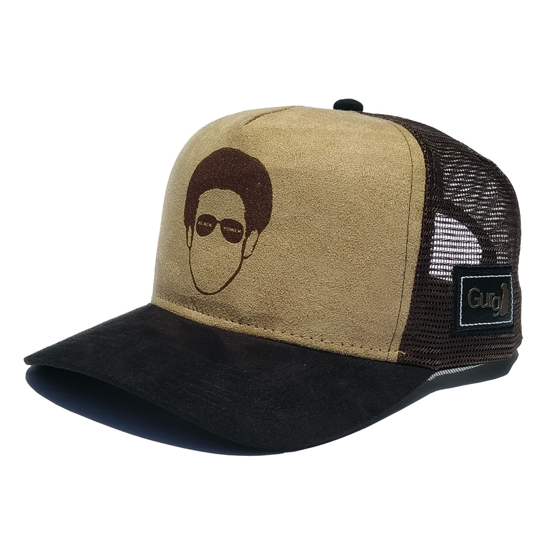 Boné Gurg Trucker Americano Aba Curva Black Power