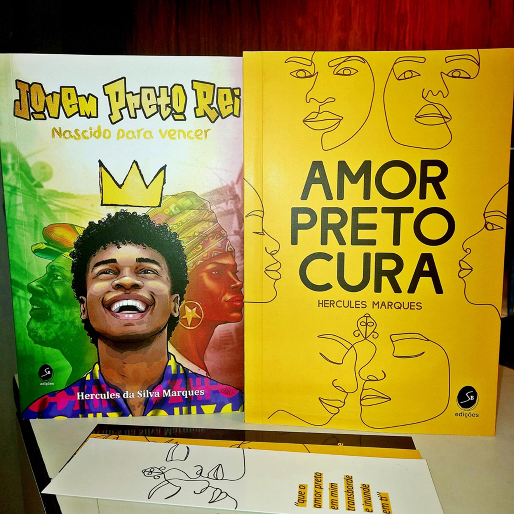 Box - Jovem Preto Rei + Amor Preto Cura + 3 marca páginas de brinde