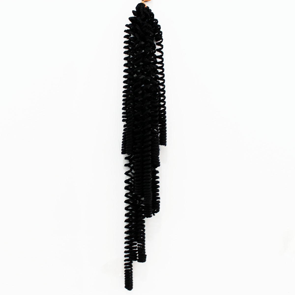 Cabelo Sintético Cacheado Micro Molas - 50cm -  Cor Preto