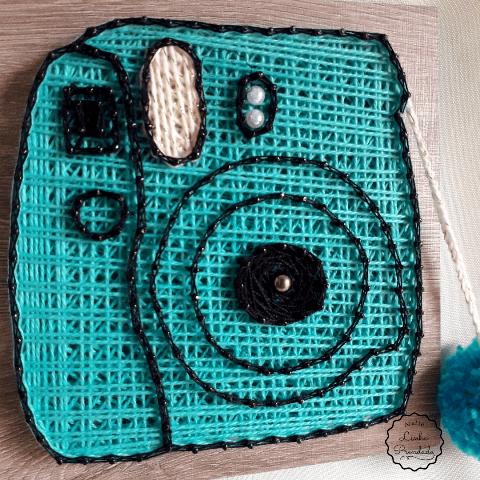 Câmera Fotográfica Retrô Quadro decorativo em string art
