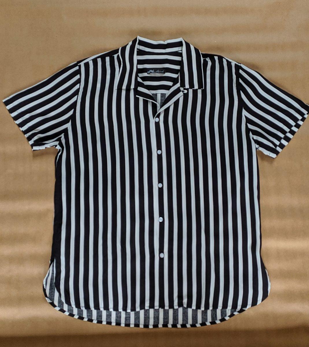 camisa  colarinho cubano