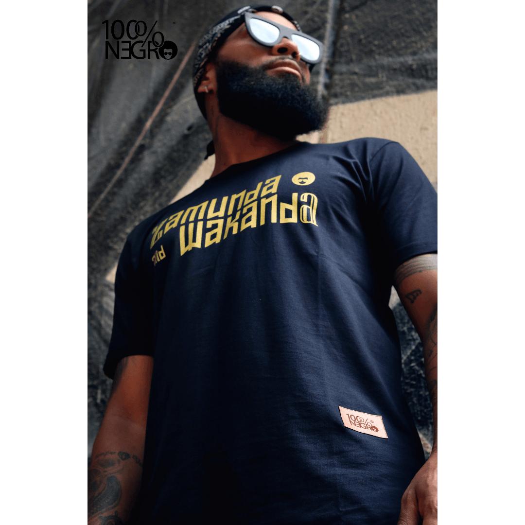 Camiseta 100%NEGRO Long line - ZAMUNDA and WAKANDA