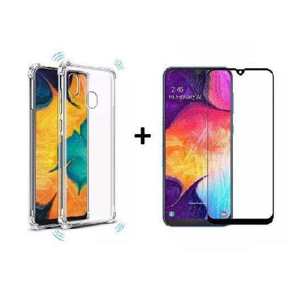 Capa Transparente Anti Impacto Samsung Galaxy A21S + Pelicula de Vidro 3D