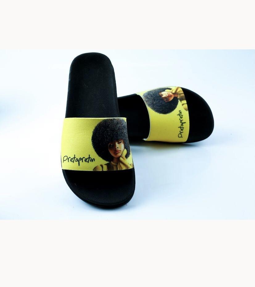 Chinelo Black Power Amarelo