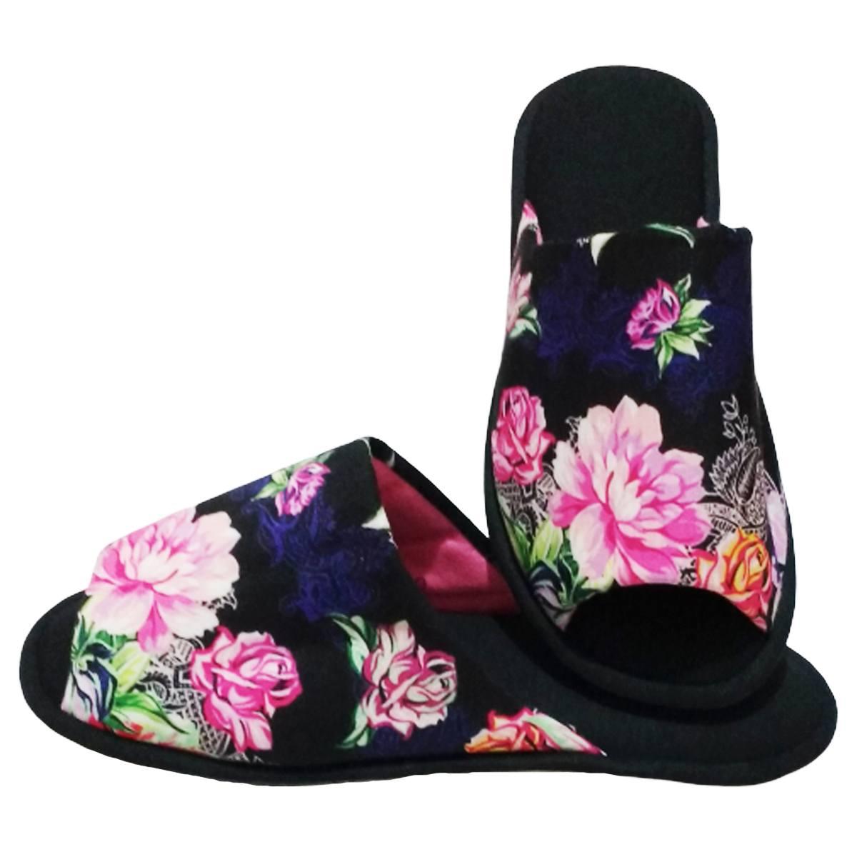 Chinelo Feminino de Quarto Aberto  Floral cod 28