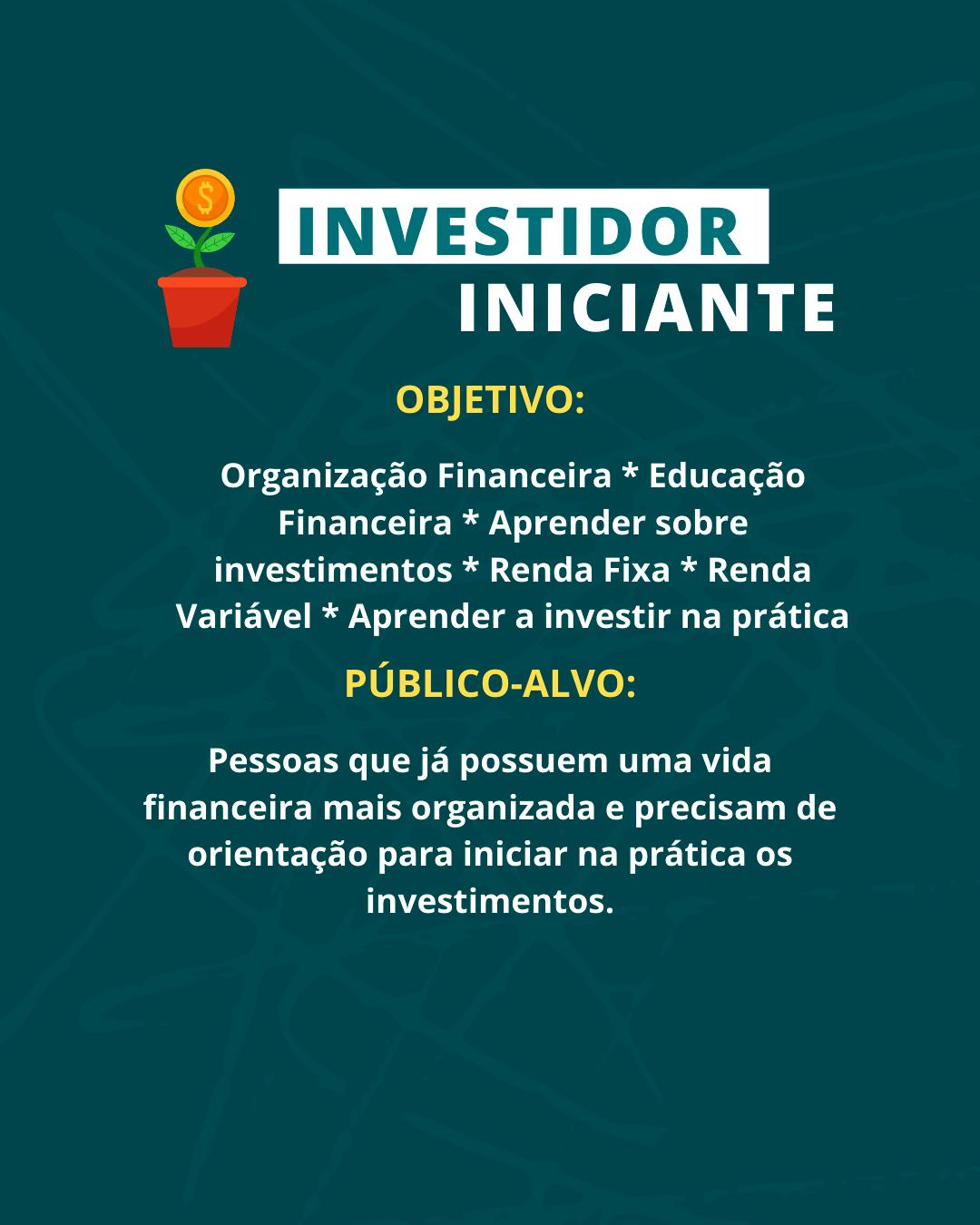Consultoria Financeira Investidor Iniciante