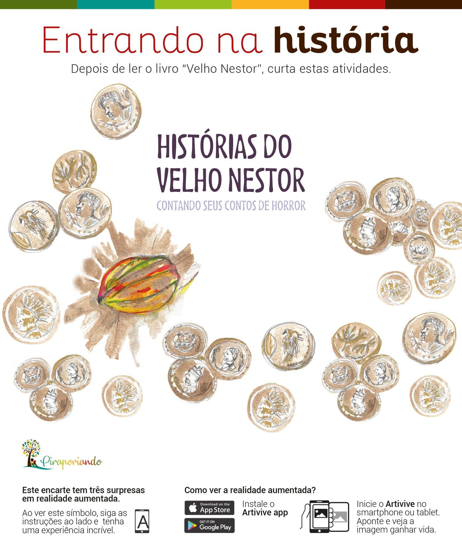 Histórias do velho Nestor, Contando Seus Contos de Horror - Encarte de Atividades