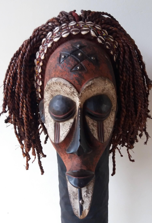MASCARA AFRICANA CHOKWE - ANGOLA - CONGO