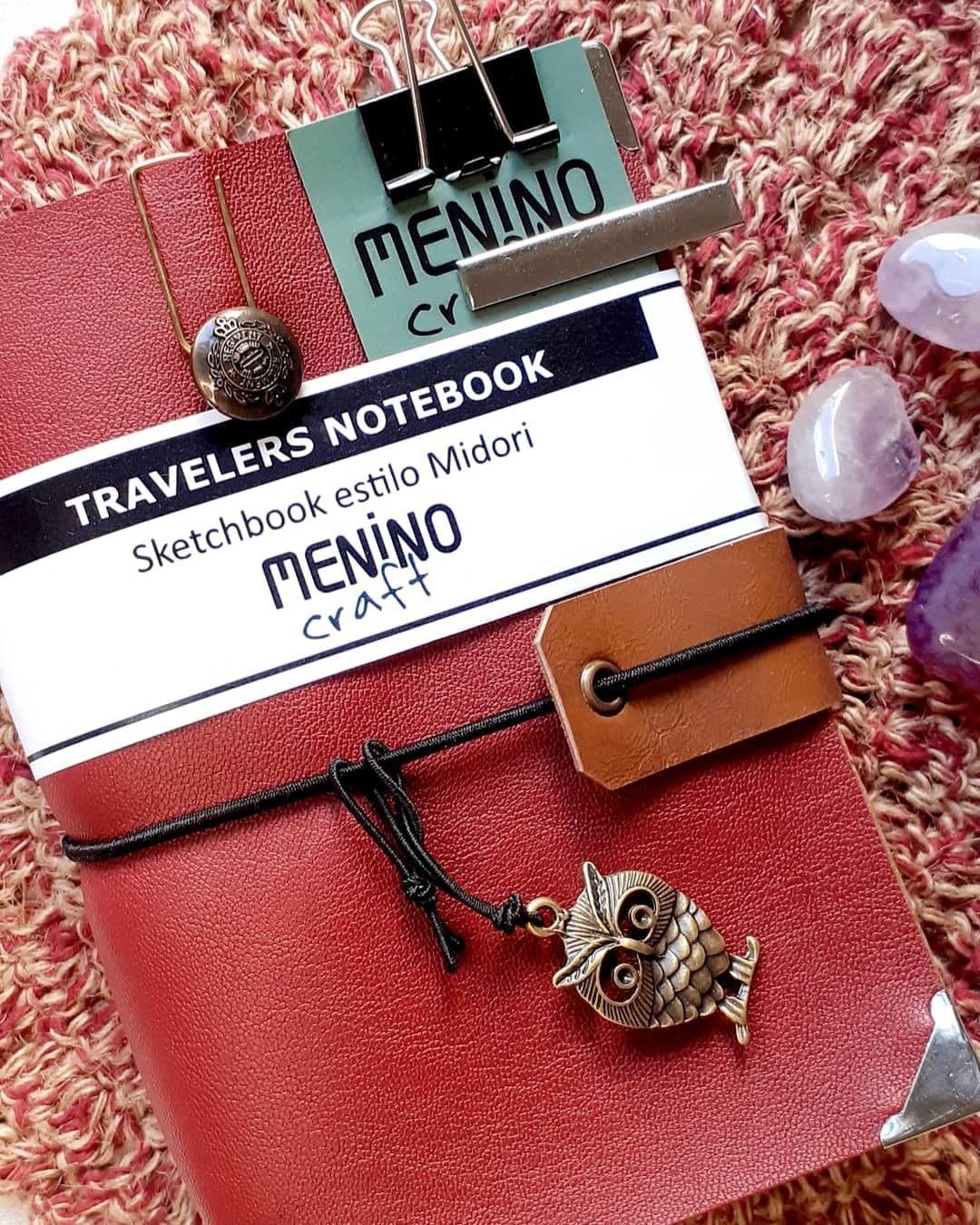 Mini Notebook vermelho A6 | Menino Craft - tipo Midori
