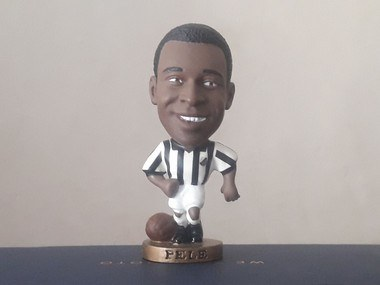 Minicraque Prostars Boneco Repintado Pelé Santos Futebol Clube