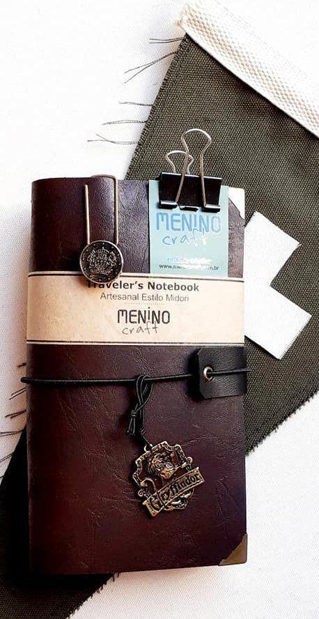 Notebook Standart Dark Perugia | Menino Craft - tipo Midori