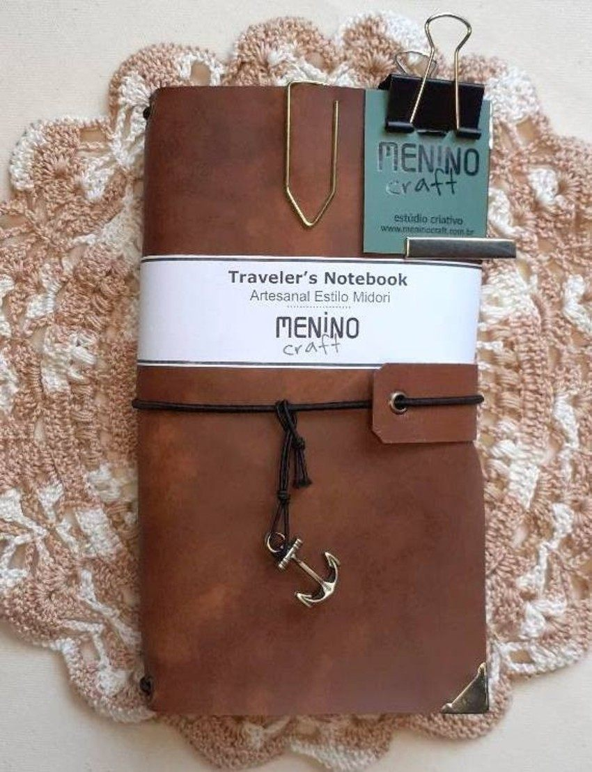 Notebook Standart Marrom Mesclado | Menino Craft - tipo Midori