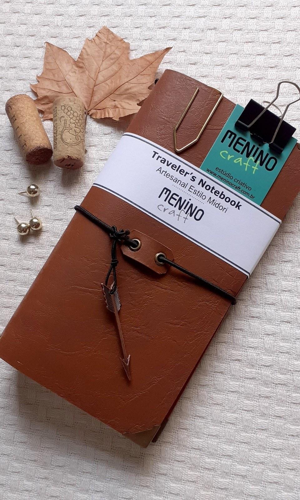 Notebook Standart Marrom Perugia | Menino Craft - tipo Midori