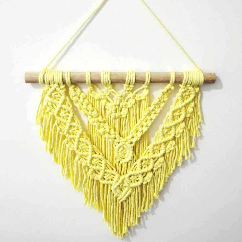 Painel de Macramê | Trama Amarela