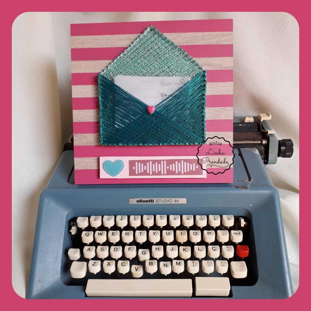 Quadro interativo Carta de Amor