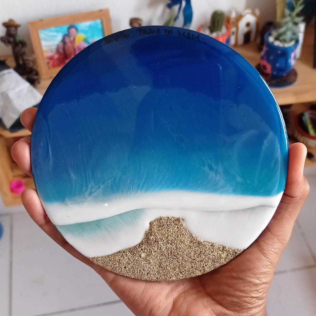 Quadro Redondo Mar
