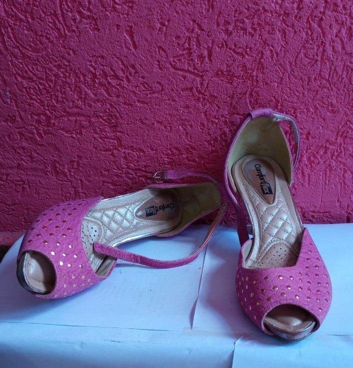 Sapato Comfortflex rosa