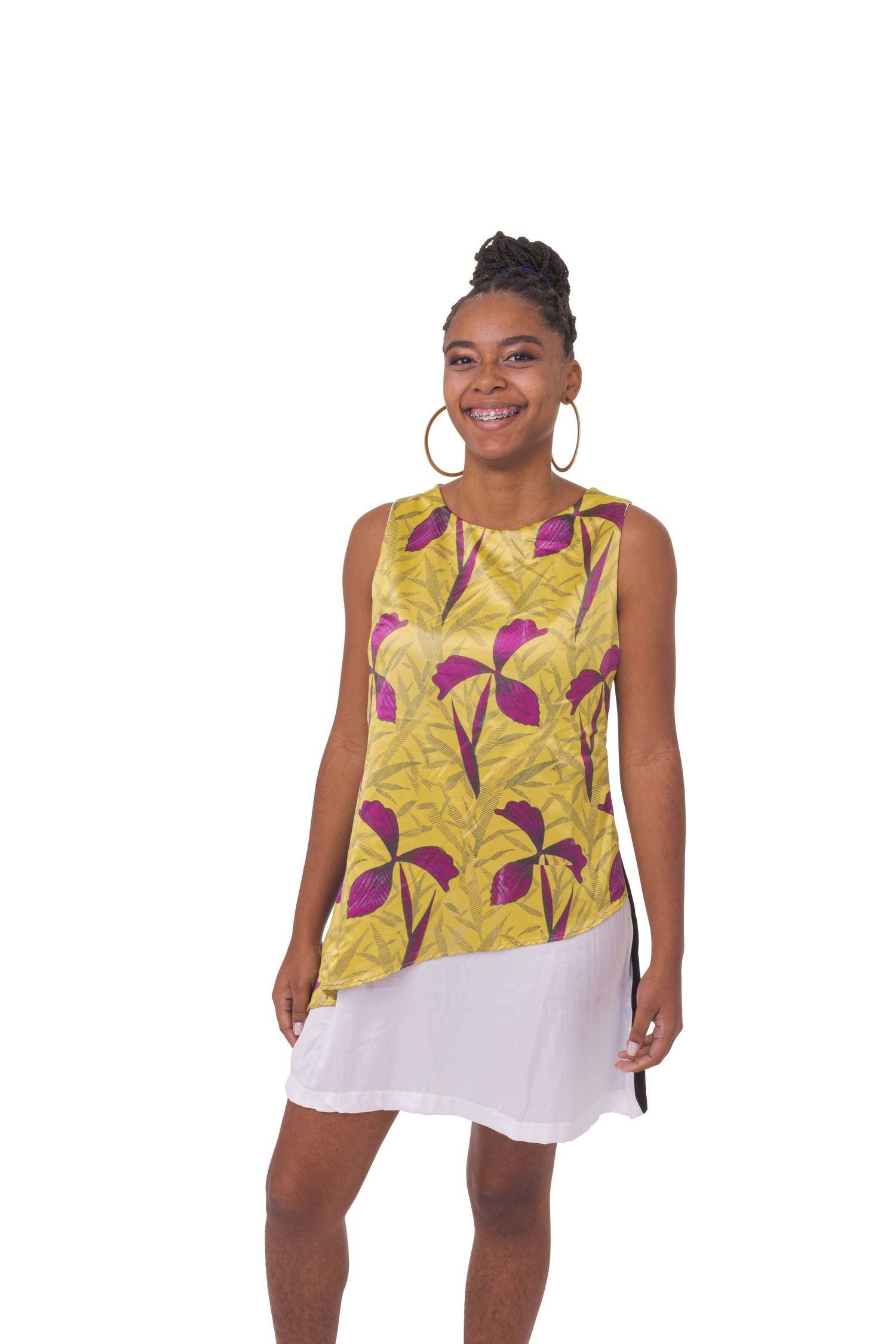 Vestido Assimetria Afro